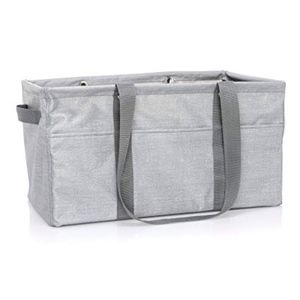 Thirty-One Deluxe Utility Tote- Light Grey
